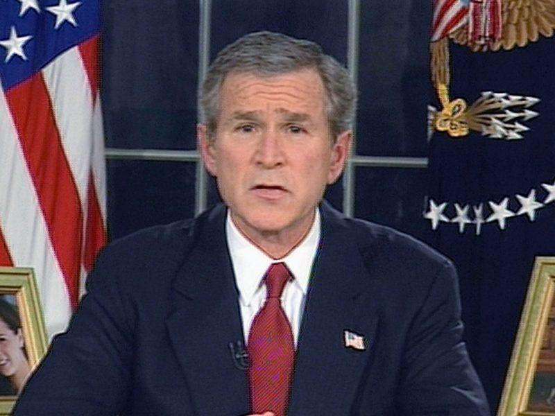 President Bush Announces Military Strike In Iraq