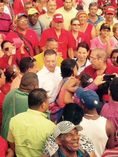 Gobernador Arias Cárdenas en Ciudad Ojeda