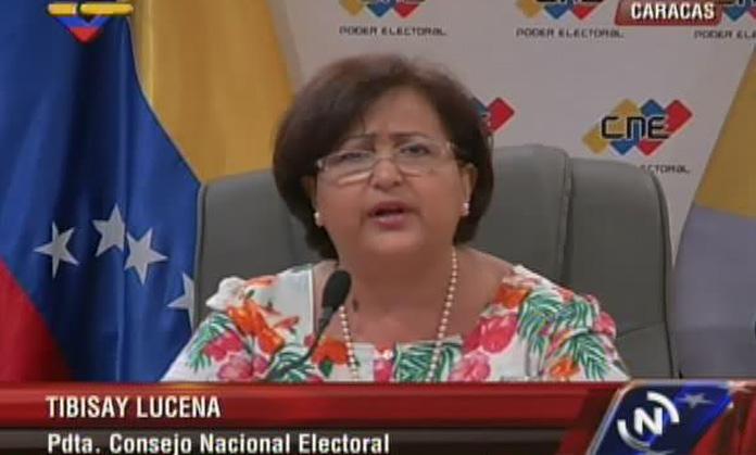 Tibisay Lucena, presidenta del CNE / Foto el Impulso