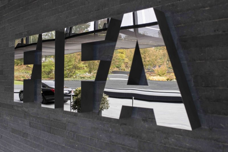 The FIFA logo is pictured prior to the FIFA Council meeting at the Home of FIFA in Zurich, Switzerland, Friday, Oct. 14, 2016. (Ennio Leanza/Keystone via AP)