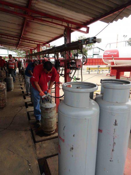 Labores de llenado y despacho de cilindros